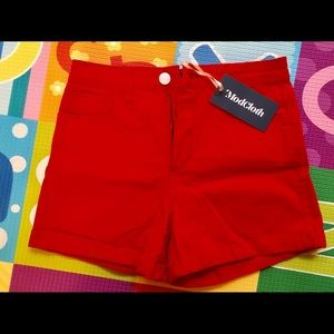 NWT red ModCloth shorts